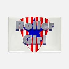Roller Girl Rectangle Magnet