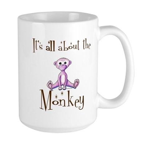 All About the Monkey Large Mug