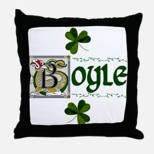 Boyle Celtic Dragon Throw Pillow