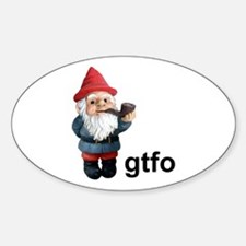 Gnome GTFO Oval Decal