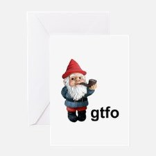 Gnome GTFO Greeting Card