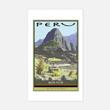Peru Rectangle Bumper Stickers