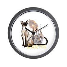 Siamese Cats Wall Clock