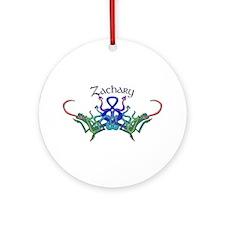 Zachary's Celtic Dragons Name Keepsake (Round)