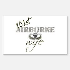 101st Airborne Wife Rectangle Decal