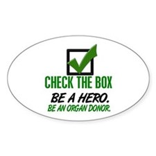 Check The Box 1 Oval Decal
