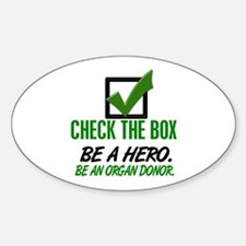 Check The Box 1 Oval Sticker (10 pk)