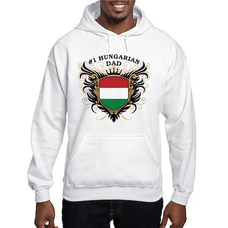 Number One Hungarian Dad Hooded Sweatshirt