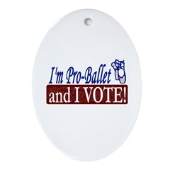 Pro Ballet Vote Oval Ornament