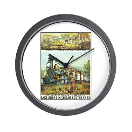 Flight of the Fast Mail Wall Clock