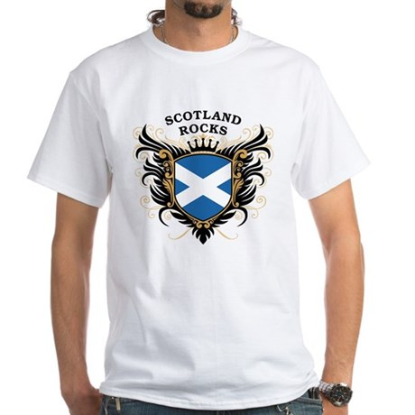Scotland Rocks White T-Shirt