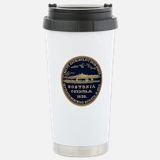 Bostonia Dark Vintage Style Travel Mug