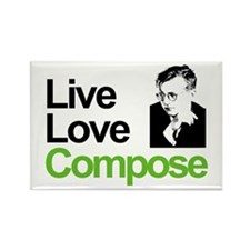 Shosti's Live Love Compose Rectangle Magnet