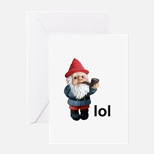 Lol Gnome Greeting Card