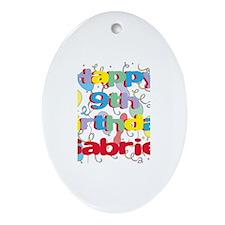 Gabriel's 9th Birthday Oval Ornament