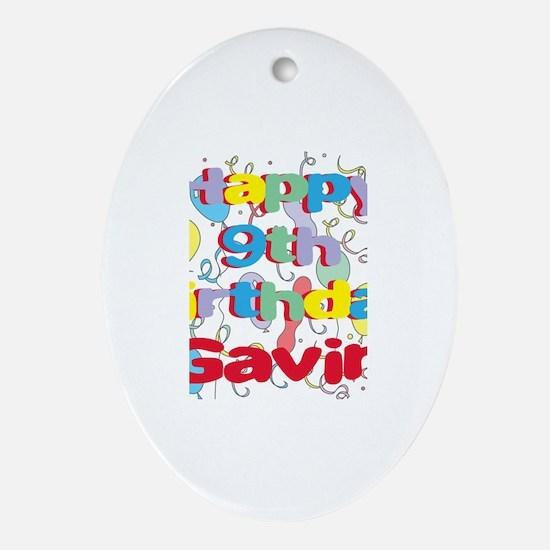 Gavin's 9th Birthday Oval Ornament