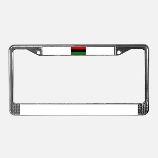 Afro American License Plate Frame