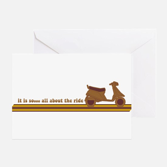 All About The Ride Greeting Card