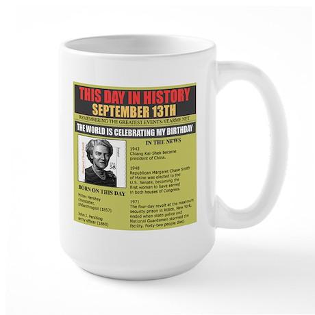 september 13th-birthday Large Mug