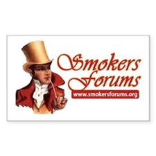 Smokers Forums Rectangle Decal