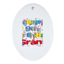 Grant's 9th Birthday Oval Ornament