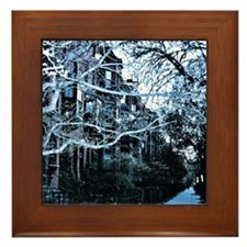 Beacon Street Winter Framed Tile