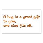 Give a Hug Rectangle Sticker 50 pk)
