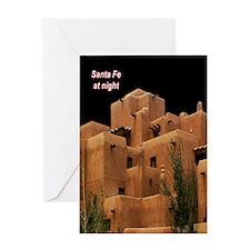 Santa Fe at Night Greeting Card