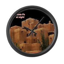 Santa Fe at Night Large Wall Clock