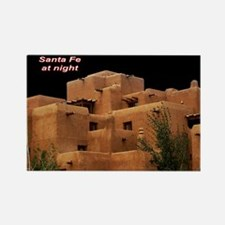 Santa Fe at Night Rectangle Magnet
