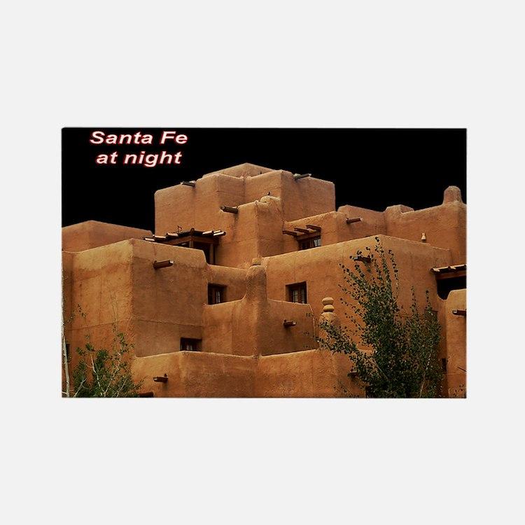 Santa Fe at Night Rectangle Magnet