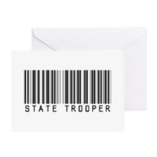 State Trooper Barcode Greeting Card