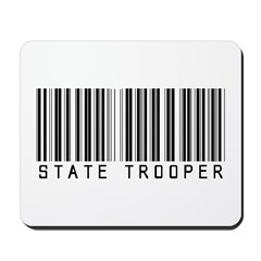 State Trooper Barcode Mousepad