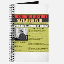 september 15th-birthday Journal