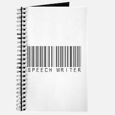 Speech Writer Barcode Journal