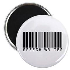 Speech Writer Barcode Magnet