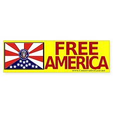 Free America Bumper Bumper Sticker