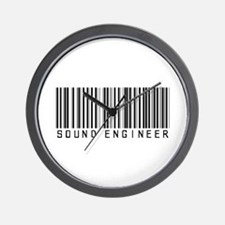 Sound Engineer Barcode Wall Clock