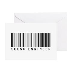 Sound Engineer Barcode Greeting Card