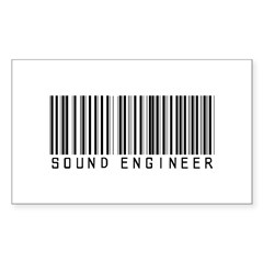 Sound Engineer Barcode Rectangle Decal