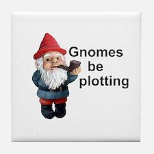 Gnomes be plotting Tile Coaster
