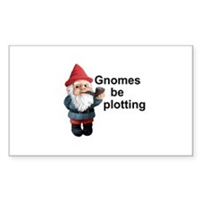 Gnomes be plotting Rectangle Decal