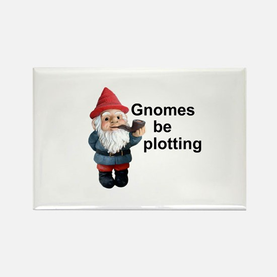 Gnomes be plotting Rectangle Magnet