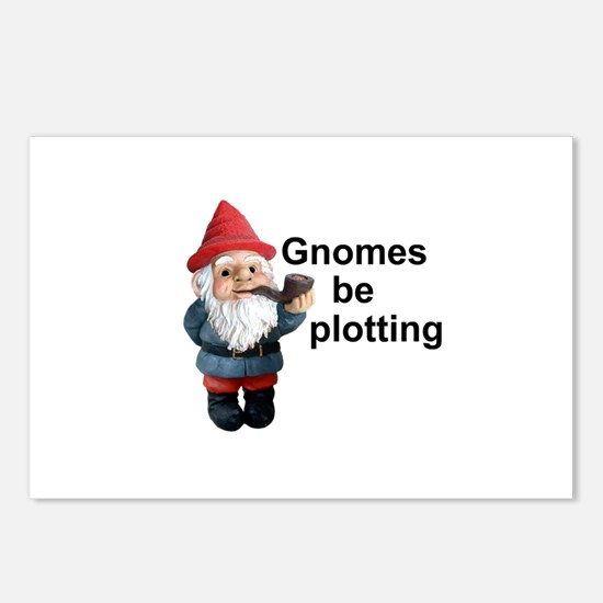 Gnomes be plotting Postcards (Package of 8)