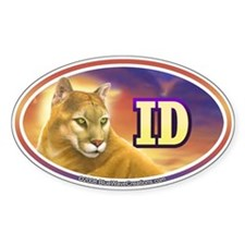 ID Idaho Mountain Lion Cougar Decal Oval Decal