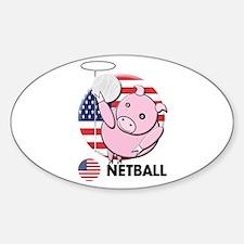 netball Oval Decal