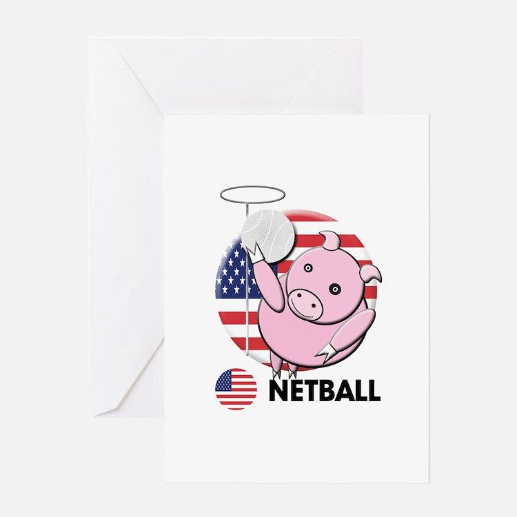 netball Greeting Card