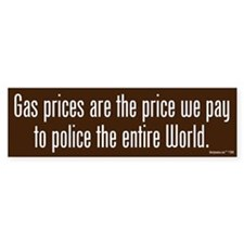 Gas Prices Bumper Bumper Sticker