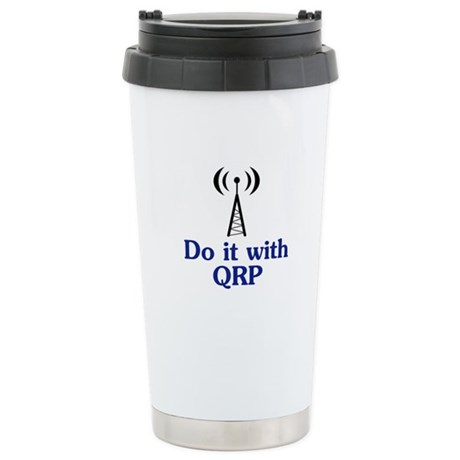Do It With QRP Stainless Steel Travel Mug