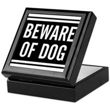 Beware of Dog Keepsake Box